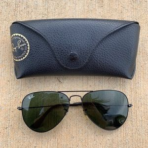 RayBan Black Aviator Sunglasses